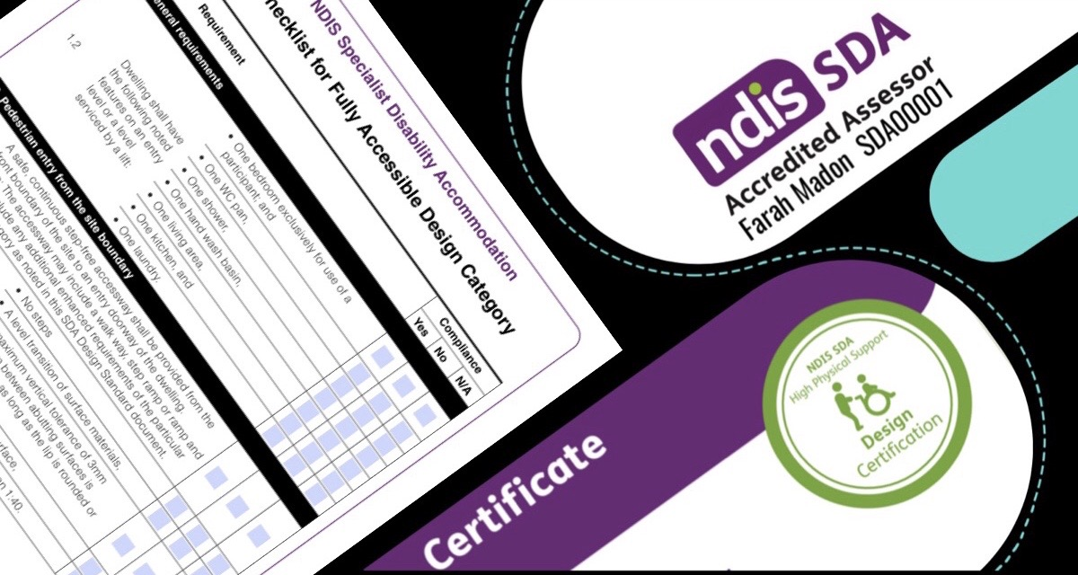 Vista Access Architects are now registered as NDIS Accredited SDA Assessors