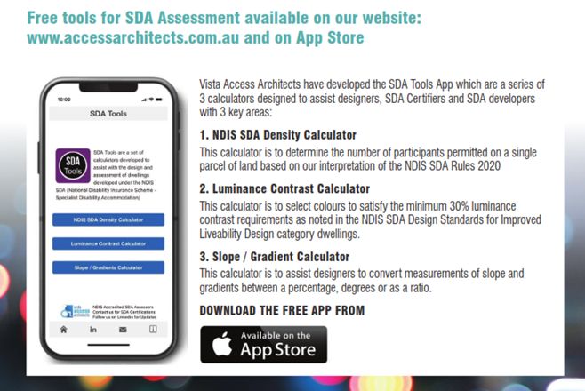 SDA Tools App for NDIS Specialist Disability Accommodation